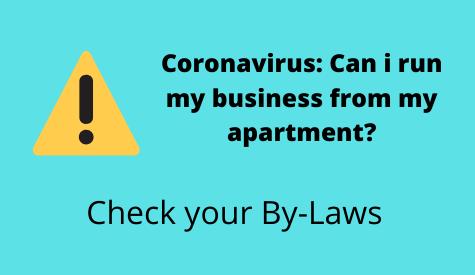 Coronavirus: Can i run my business from my apartment?